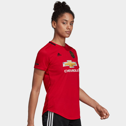 adidas Manchester United 19/20 Ladies Home S/S Football Shirt