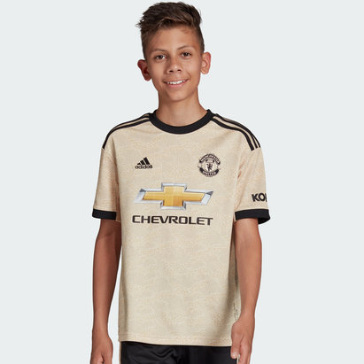 adidas Manchester United 19/20 Kids Away S/S Football Shirt