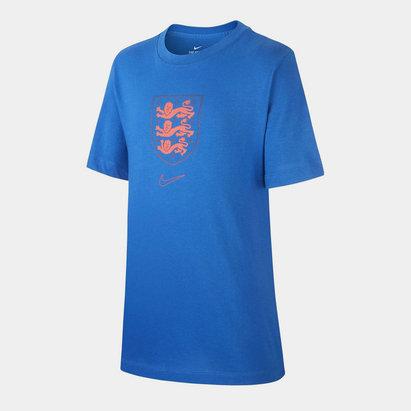 Nike England Crest T Shirt 2020 Kids
