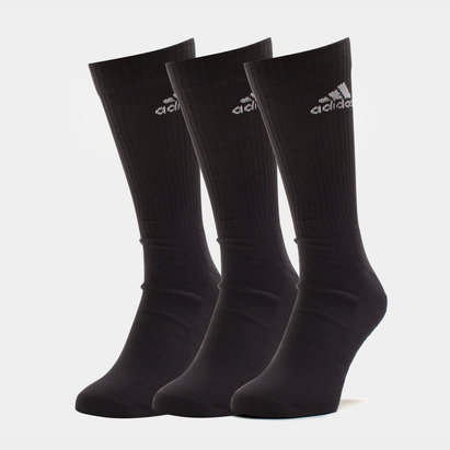 3 Pk adidas 3 Stripe Performance Crew Socks