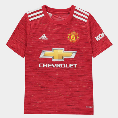 adidas Manchester United Home Shirt 20/21 Kids