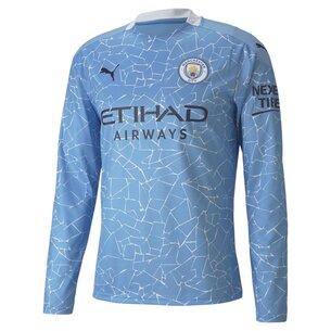 Puma Manchester City Home Long Sleeve Shirt 2020 2021