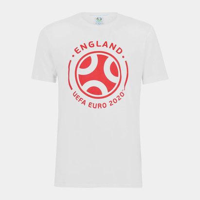 UEFA Euro 2020 England Graphic T Shirt Mens