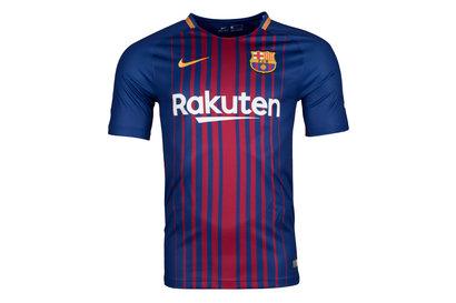 Nike FC Barcelona 17 18 Home Replica S S Football Jersey. Deep Royal Blue University  Gold e2019ad31
