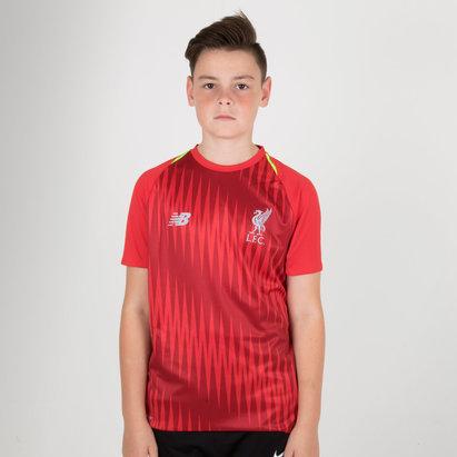 08afa7fdf86 New Balance Liverpool FC 18 19 Elite Kids Matchday Football Training Jersey.  Red