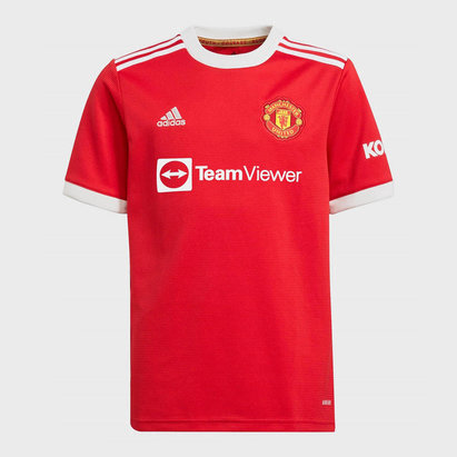 adidas Manchester United Home Shirt 2021 2022 Junior