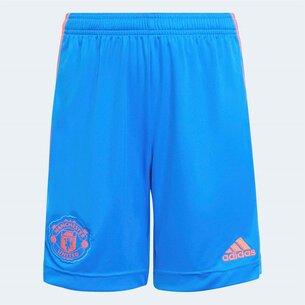 adidas Manchester United Away Shorts 2021 2022 Junior