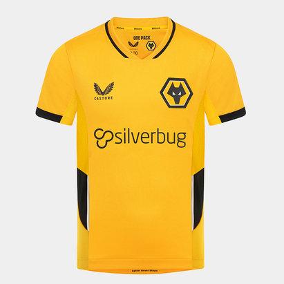 Castore Wolves Home Match Shirt 2021 2022 Kids