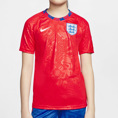 England 2020 Kids Pre Match Football Shirt