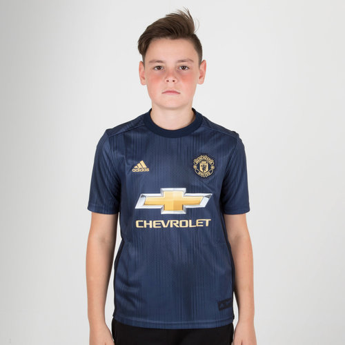 7be28eab8 adidas Manchester United 18 19 3rd Kids S S Replica Football Jersey ...