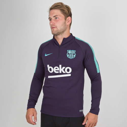 8eb4ba678 Nike FC Barcelona 18 19 Dry Squad Football Training Top