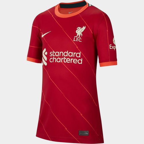 Liverpool Home Shirt 2021 2022 Junior