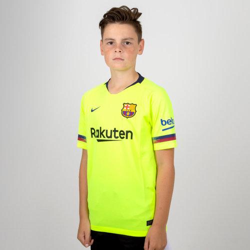 6f15a6c46 Nike FC Barcelona 18 19 Away Kids S S Stadium Replica Football ...
