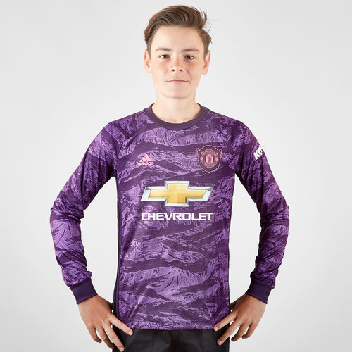 check out 9a149 94501 adidas Manchester United 19/20 Home Kids L/S Goalkeeper ...